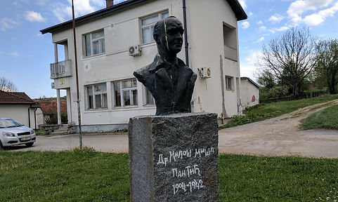 A photo of a sculpture of Miša Pantić (Миша Пантић).