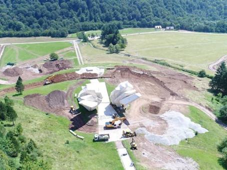 Major landslide rehab efforts begin at Tjentište