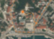 Map of the location of the monument at the spomenik complex at Makarska, Croatia.