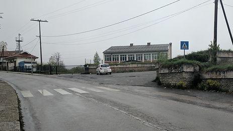 Parking area for the WWII spomenik complex in Brezovica, Kosovo