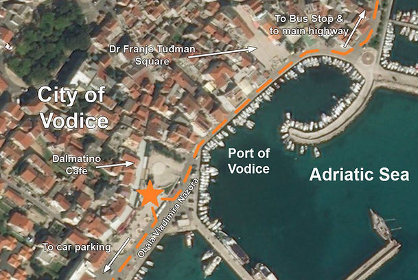 Vodice spomenik monument map location Partisan