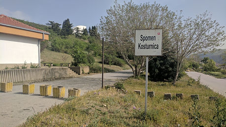 Parking area photo of the Veles spomenik monument