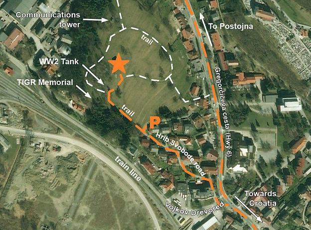 Ilirska Bistrica spomenik map location monument