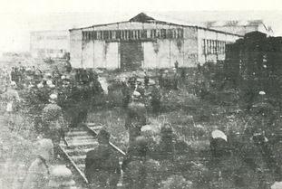 Citizens being detained in the wagon fac