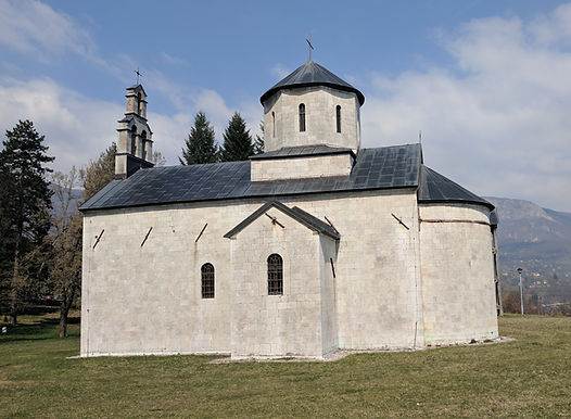 Church of St. Michael the Archangel at the spomenik park in Andrijevica, Montenegro.