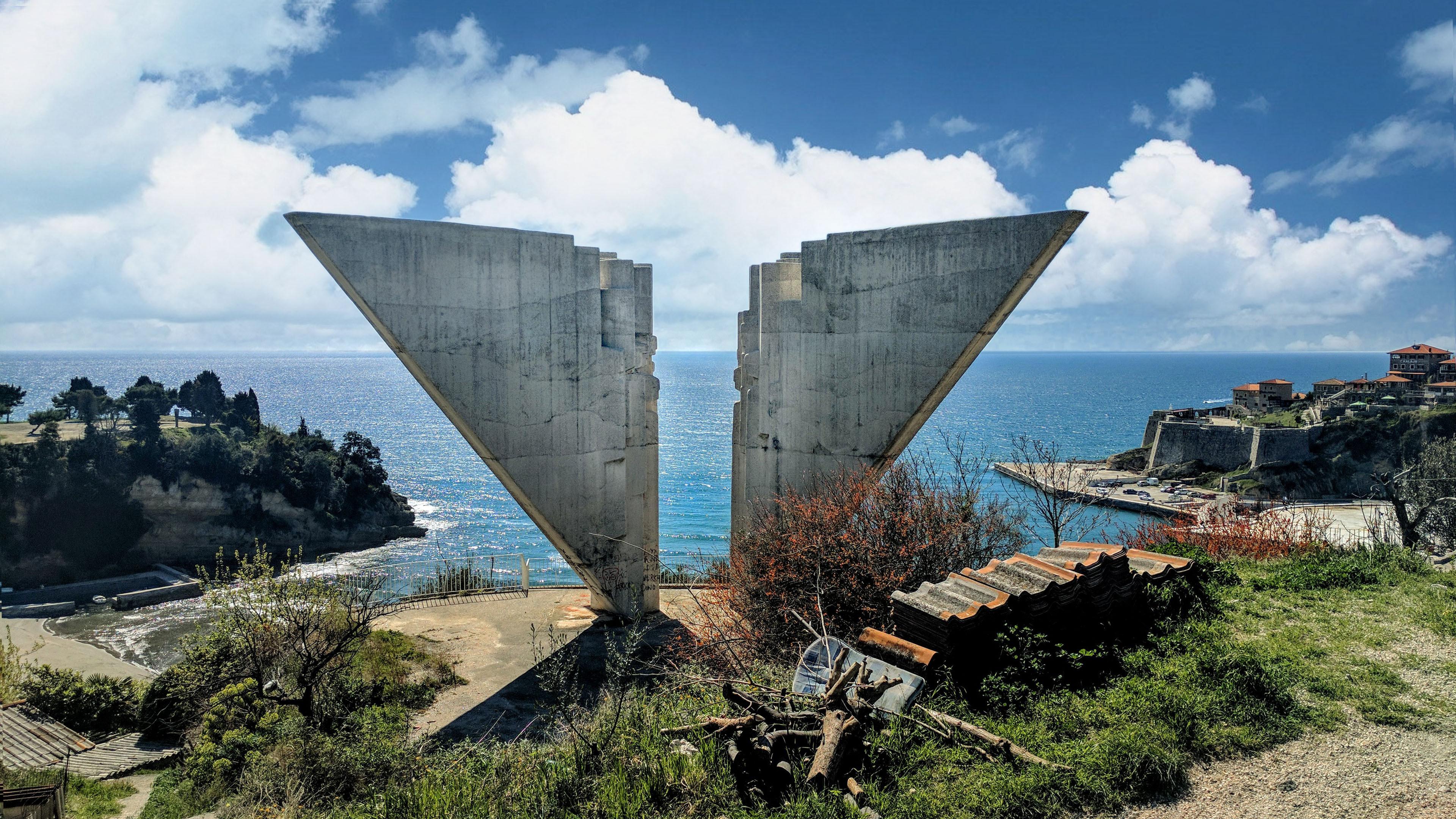 Spomenik Database The Freedom Monument At Ulcinj