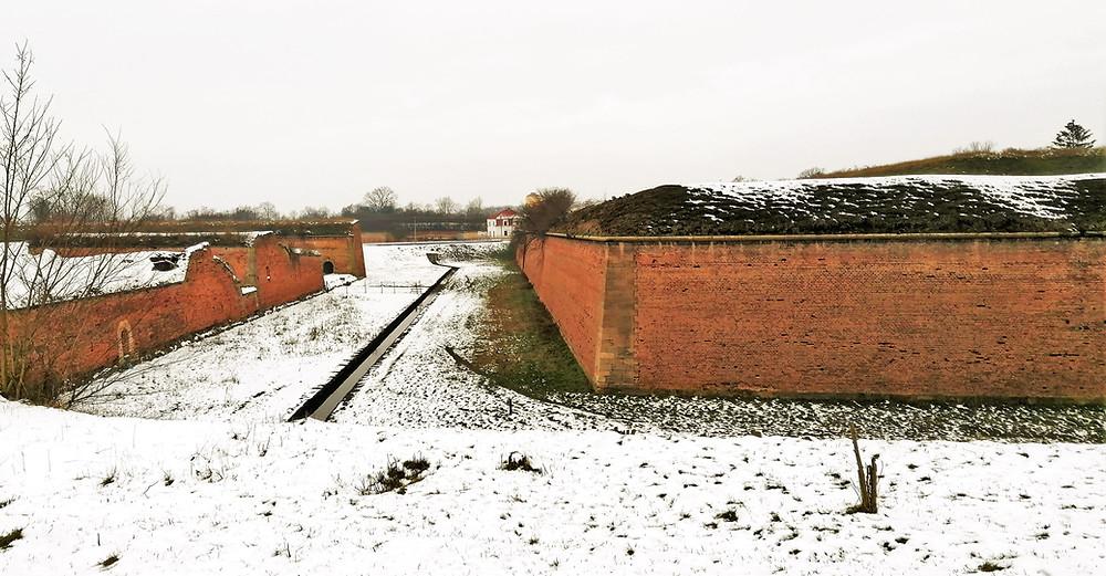 Bastionové hradby v pevnosti Terezín