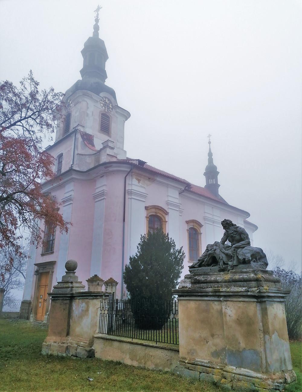 Původně gotický kostel svatého Jakuba v Cítolibech