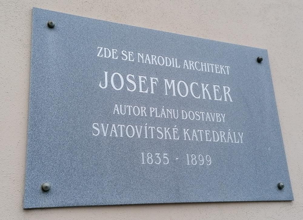 Pamětní deska Josefa Mockera
