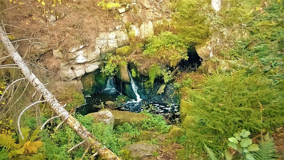 Jeden ze stupňů Odlezelských vodopádů.jp
