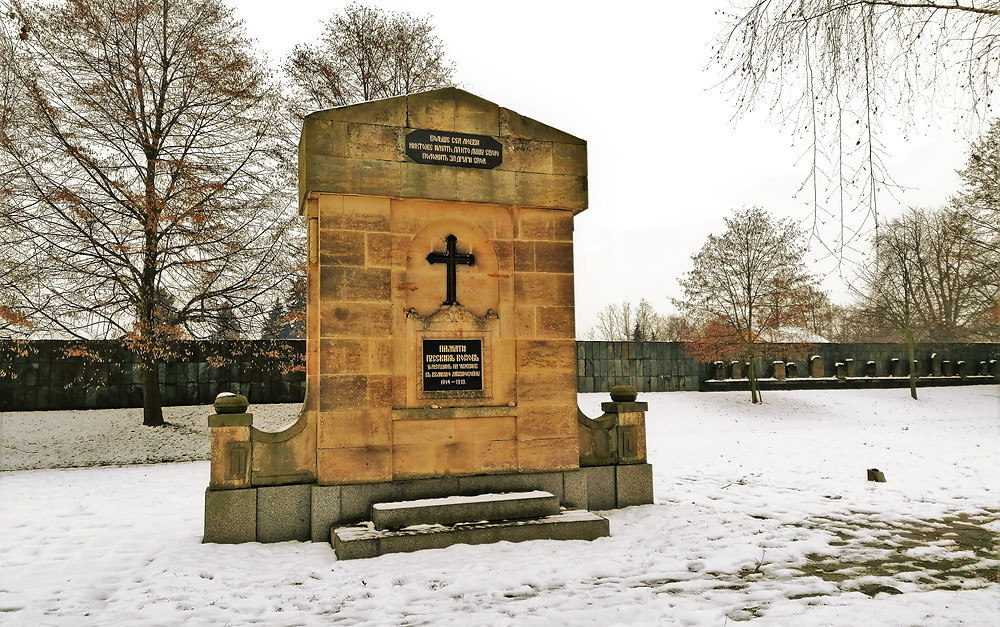 Pomník padlých ruských zajatců z I. světové války v Terezíně