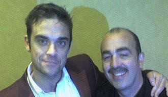 Phil Jay With Robbie Williams