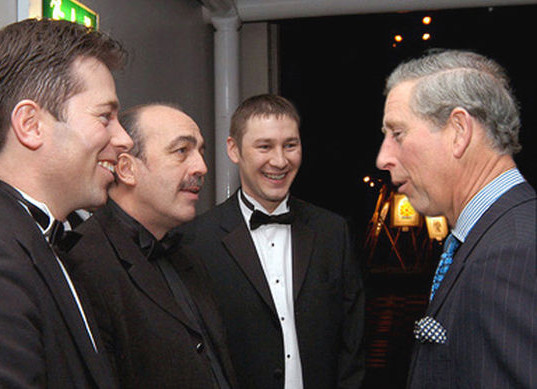 Phil Jay With HRH Prince Of Wales