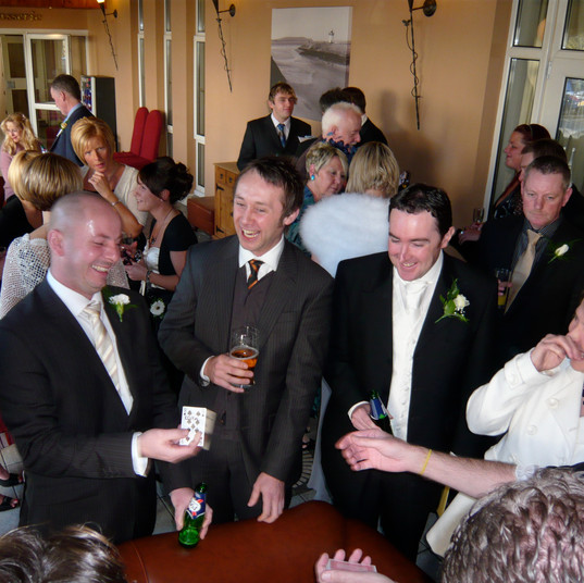 Phil Jay Wedding Magician Llanelli Carmarthenshire.