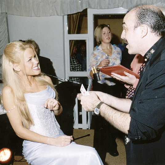 Phil Jay Swansea Magician With Melinda Messenger