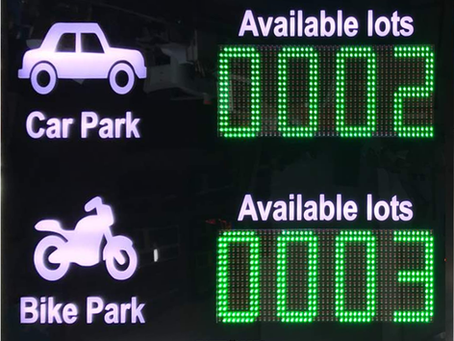 Car Park Management Display Benefit