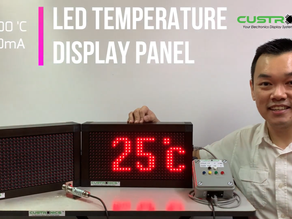 Industrial LED Large Temperature Display Panel | 4 to 20mA | Long Range Infrared Sensor l Humidity