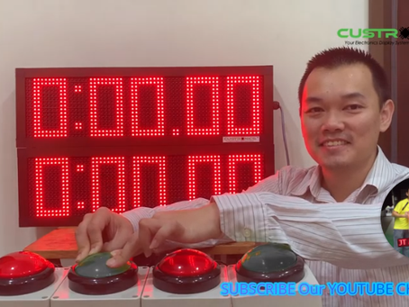 Simple Stopwatch Display Panel