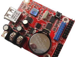How To Program LED Running Message Board Using PowerLED With TF-S5U Control Card