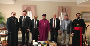 AUA Delegation Meeting With His Holiness Mar Gewargis The Third Slewo