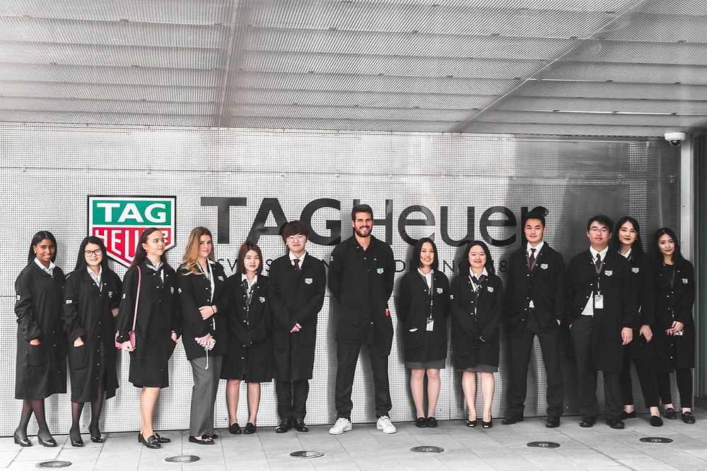 Hotel Institute Montreux students visiting Tag Heuer