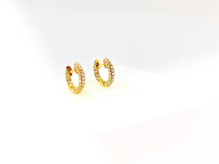 Argolinha De Brilhantes - Ouro Amarelo