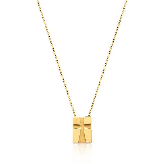 Colar Crucifixo - Ouro Amarelo 5,6g