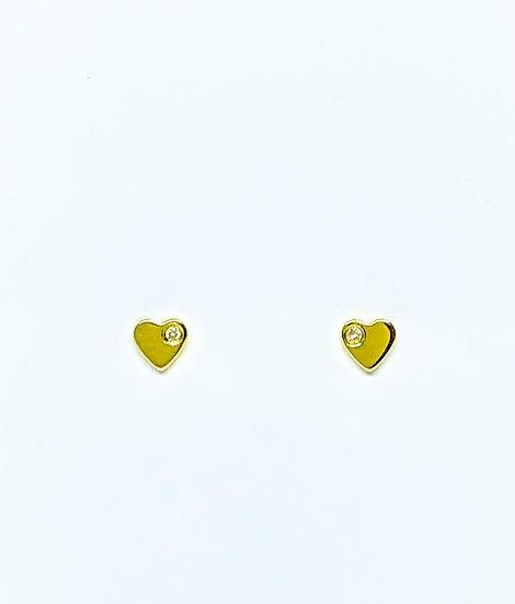 Brinco Coração - Ouro Amarelo