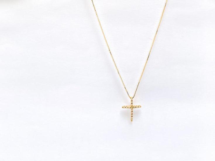 Colar Crucifixo - Ouro Amarelo