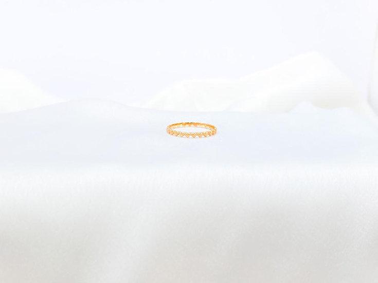 Anel Mini Corações - Ouro Amarelo