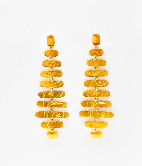 Brinco Movimento  - Ouro Amarelo