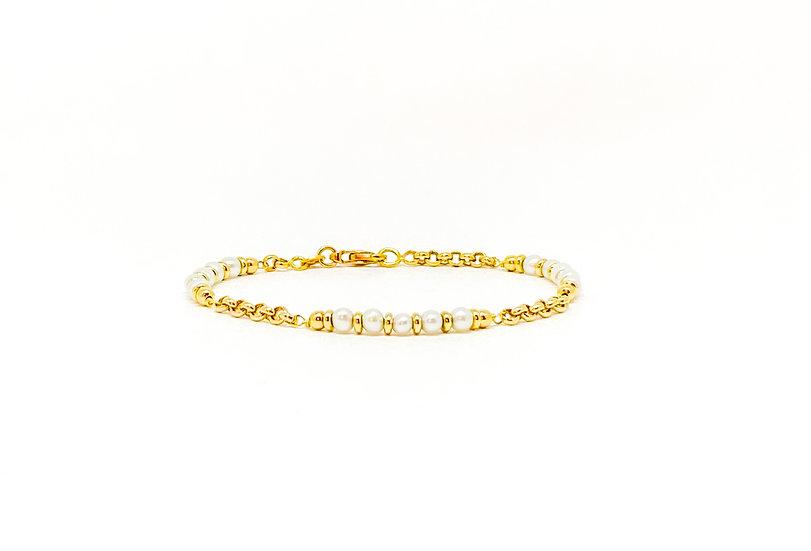Pulseira Pérolas - Ouro Amarelo