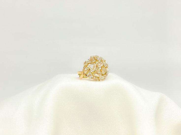 Anel Triângulos - Ouro Amarelo