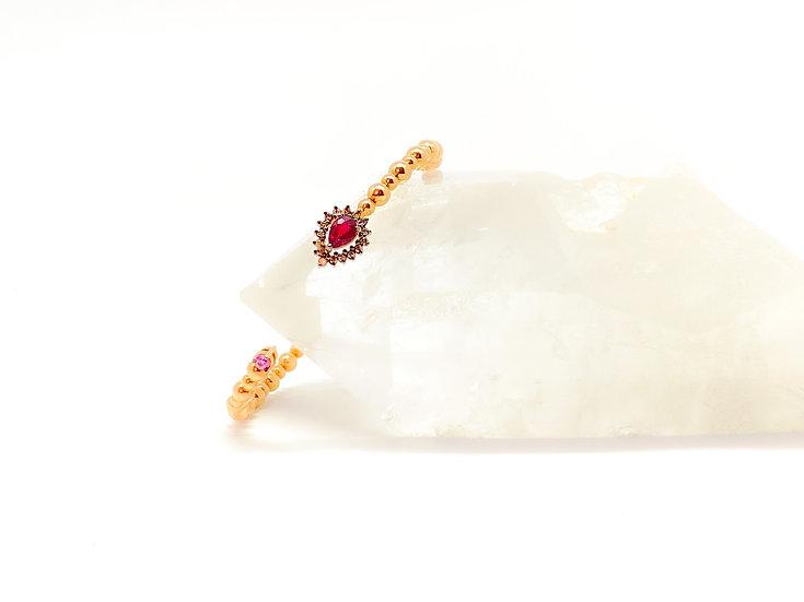 Pulseira Rubi - Ouro Rose