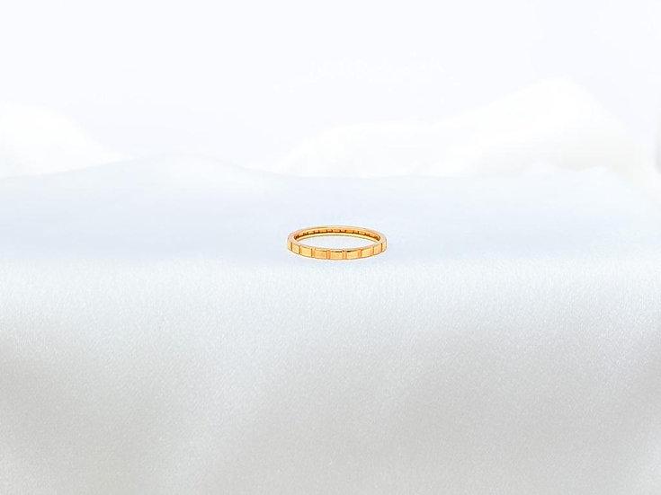 Anel Retângulos - Ouro Rose