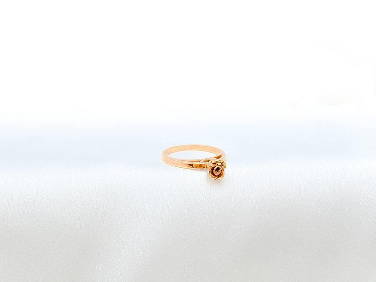 Anel Rosa com Movimento - Ouro Amarelo