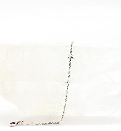 Tornozeleira Estrela - Ouro Branco