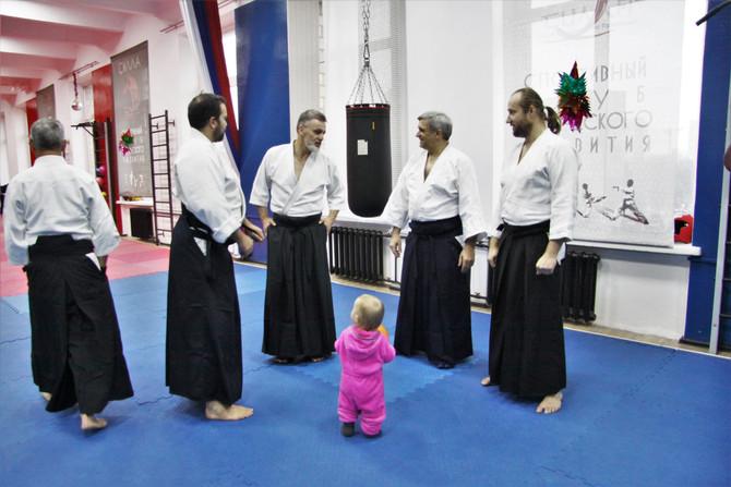 В гостях у Кенбукай додзе на зимней открытой тренировке айкидо.