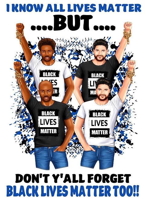 Black Lives Matter T-shirt Male
