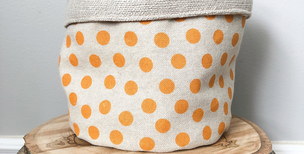 Orange Soda & Gunny Sack Planter Sleeve