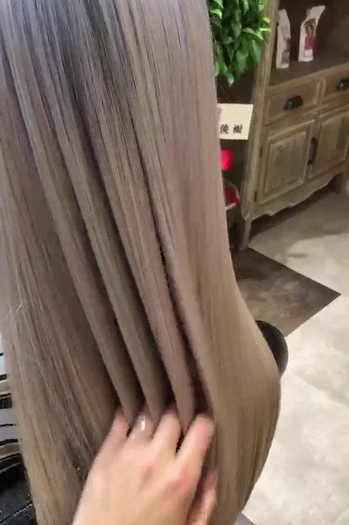 【美髪矯正ストレート】×【髪質改善TR】×カラー×カット×5stepTR