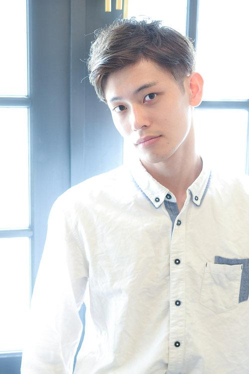 【オシャレ白髪染めが大人気♪】メンズカット+メンズカラー