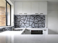 Mozaic Design in Zinc and Black
