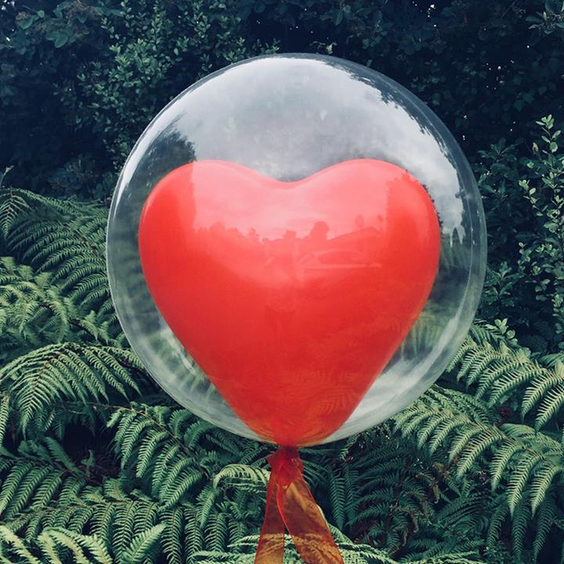 Valentines Heart in Bubble