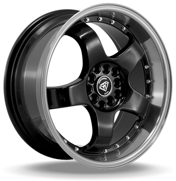 W803 White Diamond Wheel (Black/Polish Lip)