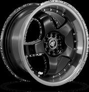 W803 White Diamond Wheel (Black/Polish Lip)