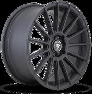 W3193 White Diamond Wheel Matte Black, Black Polish