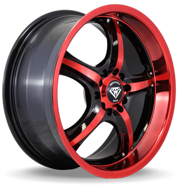 W511 White Diamond Wheel (Black/RedFace)