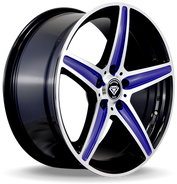 W253 White Diamond Wheel (Black Blue- Polish)