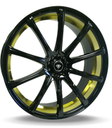 W3195 White Diamond Wheel Glossy Black / Inner Gold